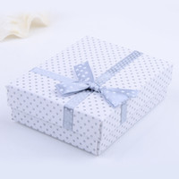 Wholesale New Arrival White Square Paper Jewelry Gift Box Display For Ring Earrings And Necklace per