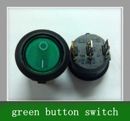 10pcs Circular three foot switch with light green \ green button switch