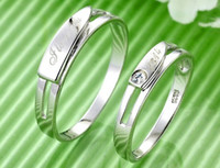 Wholesale 925 Sterling Silver Ring Couple Ring I Love You Couple Lettering Life Love Ring CS3