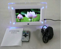 Wholesale 7 inch LCD Digital Photo Frame LED flash light With MP3 MP4 Player special gift