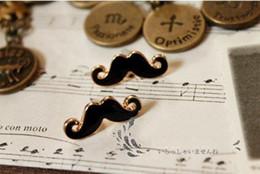 Hot sales Vintage Sexy Mustache Beard stud earring Jewellery Women Stylish 40pair lot free shipping xmas gifts