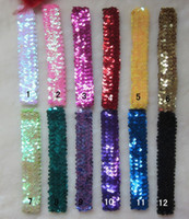 Cheap 2012 NEW Children's hair Accessories sequins headbands sequin Hair bands 13 color 50pcs lot