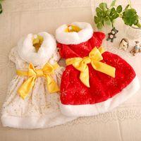 Wholesale dropshipping pet clothingdropshipping pet clothing lovely Christmas skirt size XS XL dog cat coat s