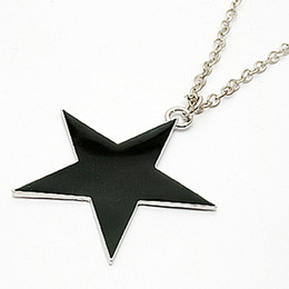 New arrival ! black big five-pointed star long design necklace sweater chain women xmas gift 36pcs  New