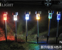 other other other Multicolor Stainless steel Solar lawn lights led garden light decoration outdoor street lamps 8pcs