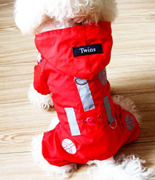 2017 New Hot Puppy Pet Dogs Clothes Leisure Raincoat Coat Four-leg pants 2 Color high quality free shipping
