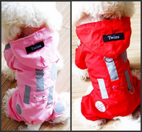 Wholesale 30pcs High quality Dog Raincoat Hoodie pet Apparel Nylon fabric material Mesh inside Color