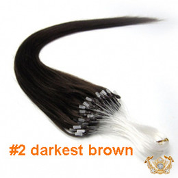 Wholesale 20inch dark brown g s g set Indian Micro Ring Loop Hair Hair Extensions Human Hair