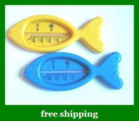 Wholesale New Fish Toy Plastic Float Floating Bath Tub Water Sensor Thermometer For Baby gifts