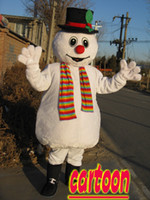 Wholesale New Funny Adult christmas Snowman Mascot Christmas Costume factory direct