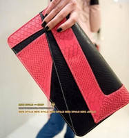 Wholesale Hot selling popular snake print mix color envelop bag Evening Party Bag Handbag Clutch