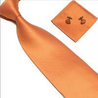 Wholesale Tie amp Cufflinks amp Hanky Neckties Men s Ties sets cufflinks neck tie set set free shopping
