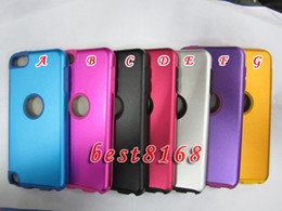 Wholesale Aluminum bling silicone gel hard hole round Case skin cover cases For Ipod touch th