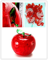 Wholesale D Crystal Apple Puzzle Toy flash Gift Education Ttem Baby Toy