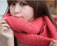 Wholesale 2012 new Korean women Scarves Fashion Wool knitting Scarves Different colors acrylic Scarves thick
