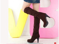 over the knee boots - Hot Sale Women s Shoes Over the Knee Thigh Stretchy High Heels Boot Size Black Brown Sexy