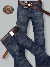 Wholesale New Men s Jeans Classic Denim Straight Trousers Men Cotton Slim wear resisting Casual Jean