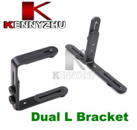 Metal   Dual L-Shape Flash Bracket Holder Mount for Canon Nikon Speedlite DSLR Camera