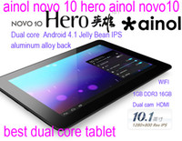 Wholesale ainol novo hero ainol novo10 NOVO Dual Core tablet inchIPS Android G G Bluetooth HDMI