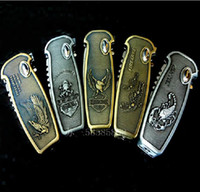 Wholesale knife creative lighter windproof gas lighters spring automatically with insurance