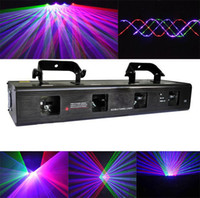Wholesale DHL RGBP mW Four Tunnel Lens Red Green blue Purple DMX Beam Laser Light stage Lighting DJ party