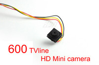 Wholesale 600TVL Mini CCTV Camera TVline Hidden cam Wide Angle lens Smallest HD cam High Resolution