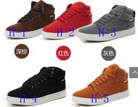 Flat Heel Cotton Fabric Rubber Casual men's high to help the Skateboard Street Dance shoes Men 's Mianxie winter warm boots