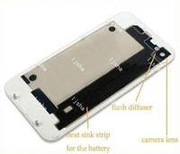 Wholesale Glass Full Back Cover Housing Assembly Battery Door Replacement with Flash Diffuser for iPhone G S