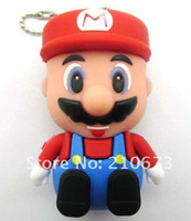 Wholesale 4GB GB GB GB Novelty Gifts Super Mario USB Flash Memory Drive Stick