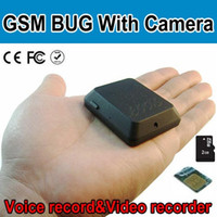 Wholesale GSM listening deviece Quad Band GSM Bug With Camera SMS Control Take Photo Support TF Card