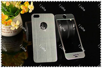 Wholesale Metal Full Body Sticker Skin Aluminum Cover Case Protector drawbench for Iphone G