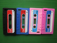 Wholesale DHL Tape Cassette case archaize soft silicone Gel skin cover Shell For Iphone G th