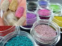 al por mayor fimo uñas 3d-uñas caviar 12 Color Arte de Uñas de Acrílico Bola de Acero de Manicura Decoración de Puntas,HB4510 Envío Gratuito