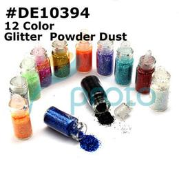 Wholesale Freeshipping sets Color Glitter Decoration Nail Art Powder Dust Bottle Set SKU D0041X