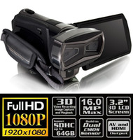 Wholesale 3D HD HDV HDTV High Definition Full P P Digital Video Camera Camcorder