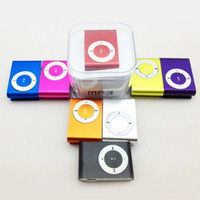 Wholesale Promotion DHL mini clip mp3 player with card slot MP3 USB Earphone Box