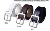 Wholesale Hot Men s Belts Classic fashion belt silver metal pin buckle belt Faux Leather piece