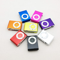 Wholesale 10pcs mini clip mp3 player with card slot MP3 only colors in stock HK Post