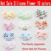 Nail Art 3D Decoration art ceramic - colors Nail Art D Soft Ceramic Flowers mm Polymer Clay Flower
