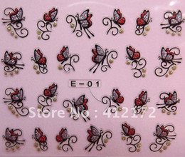 Wholesale 48 styles nail sticker amp Decals French design individual package D nail ART decoration polish