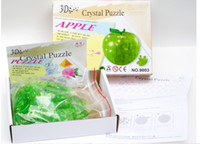Wholesale 5pcs Crystal Treasure box D jigsaw Puzzle Apple Shape Jigsaw do it yourselfery