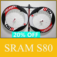 Wholesale SRAM S80 Carbon Wheels Road Bicycle C mm Ultralight Clincher Tubular Wheelset With Hub Skewers