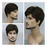 Wholesale Short Straight brown Wig Mens Wigs Makes You Stand Out