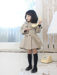 Wholesale children winter clothes baby girls Double breasted overcoat children jacket shawls dust coat