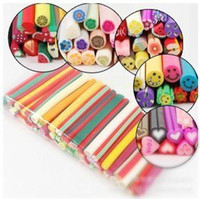 Wholesale AJ118 canes polymer clay nail art Stickers cane fruit and flower Cutted HB976