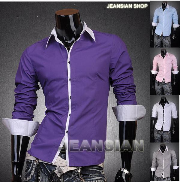 2017 Mens Designer Dress Casual Shirts Top Line Stylish S M L Xl ...