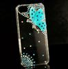 Luxury Angel Butterfly Diamond Bling Skin Case Cover for iPhone 5 5G,DHL shipping 30pcs lot