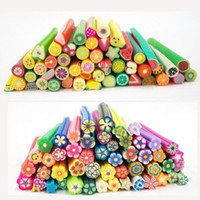 Wholesale Nail Art Polymer Clay Canes Rods Sticks Sticker Decoration Fruit Flower Dollhouse