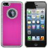 Aluminum Metal Diamond Bling Cover Snap On Hard Case for iPhone 5 5g,high quality DHL shipping