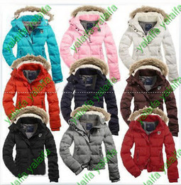 Wholesale 2012 New Women s AE White Down Coat Jacket Winter parka Fur Hooded Down Hoodies Outerwear